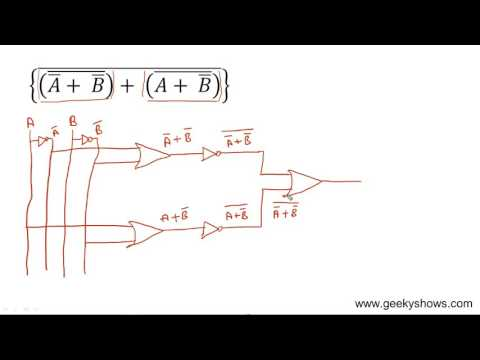 Circuit of Boolean Expression (Hindi)