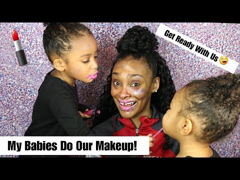 MY TODDLERS DO MY MAKEUP (AND THEIR OWN 😅) VERY CUTE & FUNNY!