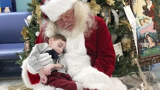 2-Year-Old Hospice Patient Sits on Santa