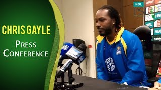 PSL 2017 Match 20: Chris Gayle Press Conference