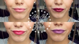 KATY KAT MATTE LIPSTICKS: First Impression/Review