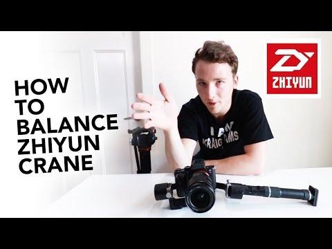 How to balance a Zhiyun Crane 3-Axis Handheld Gimbal