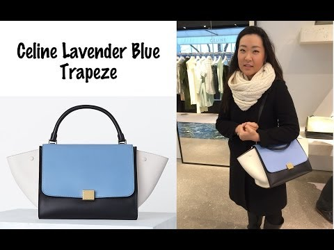 What's in Your Bag? Celine Lavender Blue Trapeze
