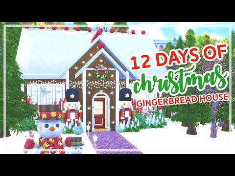 12 Days of Christmas in The Sims 4 🎄🎄 | GINGERBREAD HOUSE (Day #1)