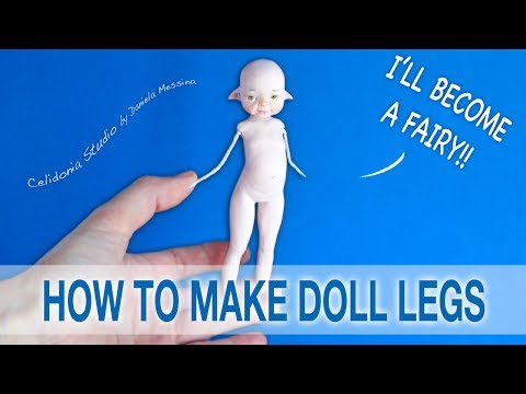 How to make Fairy Doll Legs from Polymer Clay