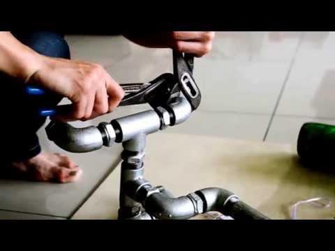 DIY Beer Bottle Pipe Lamp - DIY handycraft