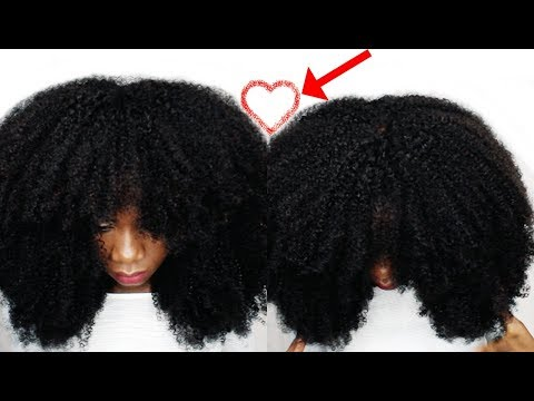 BIGGEST AFRO HAIR IN THE WORLD - NATURAL  looking afro kinky wig