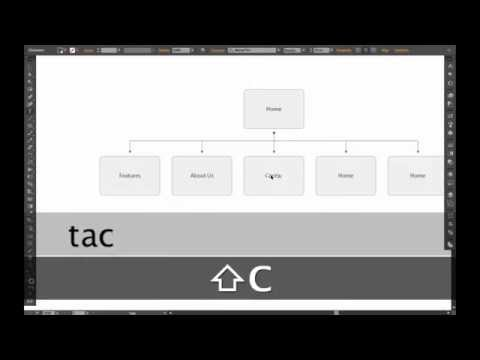 AIUX - How to Make a Sitemap in Illustrator