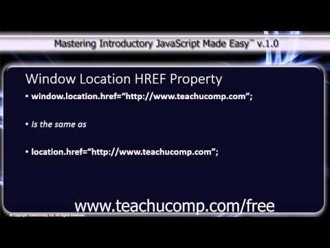 JavaScript Training Tutorial Window Location HREF Property