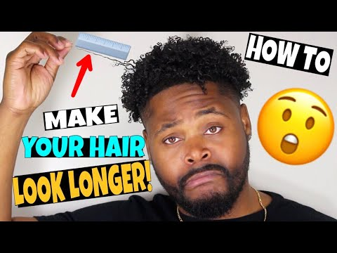 Ways To Make Your Hair Look LONGER Than What It Is!
