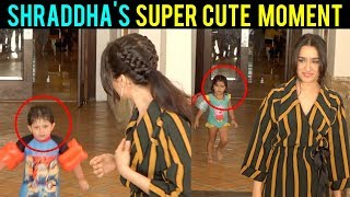 Kids Come Running Behind Shraddha Kapoor As She Meets Media | Batti Gul Meter Chalu Promotions