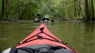 20 miles overnight kayak trip to Indian Mounds. Time lapse.