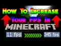 HOW TO INCREASE YOUR FPS IN MINECRAFT!! (No Optifine) | Minecraft Tutorial