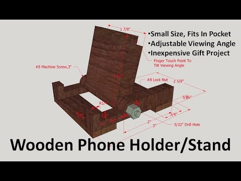 Wooden Phone Holder / Stand V2