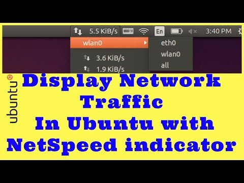 How To Install Network Traffic Indicator in the Ubuntu Panel with NetSpeed indicator