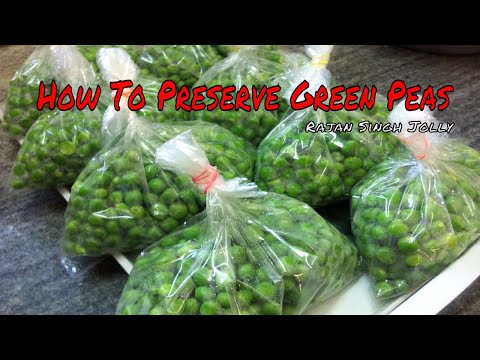 How To Blanch Freeze & Preserve Green Peas Recipe In Hindi | How To Store Green Peas | Frozen Matar