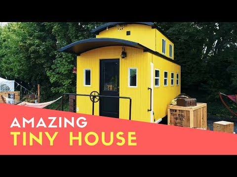 Amazing Beautiful Train Caboose Inspired Tiny House At Portland Hotel