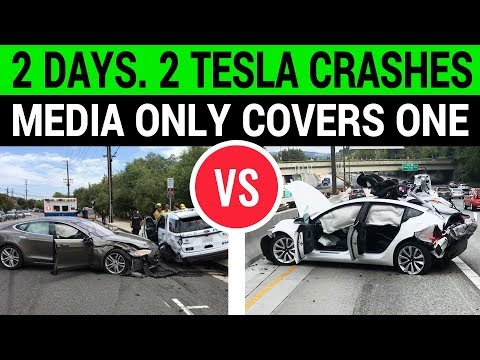 2 Days. 2 Tesla Crashes. Only 1 Reported by Media?
