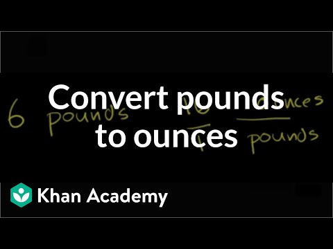 Converting pounds to ounces | Ratios, proportions, units, and rates | Pre-Algebra | Khan Academy