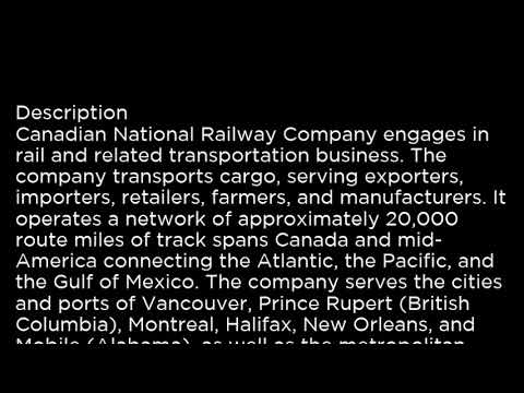 CNI Canadian National Railway Company CNI buy or sell Buffett read basic