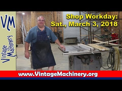 Shop Workday, Saturday, March 3, 2018