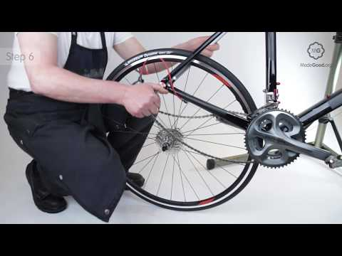 Fix A Puncture - Remove A Bike's Rear Wheel With Quick Release Skewer