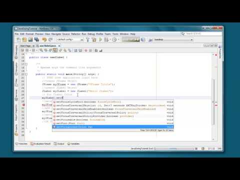 How to set font color on JLabel in java swing programing for beginners
