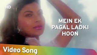 Mein Ek Pagal Ladki Hoon | Khoon Ka Karz (1991) | Vinod Khanna | Dimple Kapadia | Rajinikanth