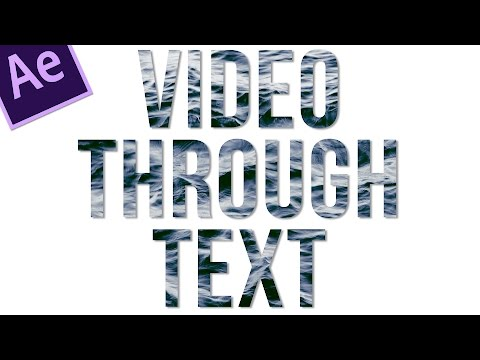 How to fill text with video in After Effects - 2 minute tuts