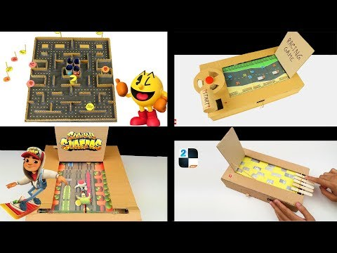 4 INCREDIBLE CARDBOARD GAMES THAT YOU CAN DO AT HOME