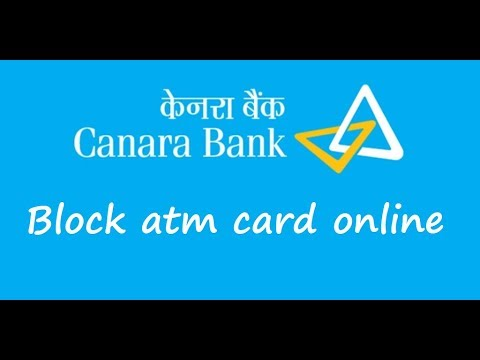 How to block canara bank atm card debit or credit online(Hindi)