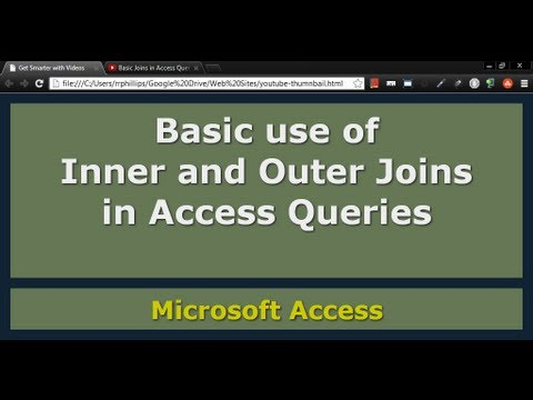 Basic Joins in Access Queries