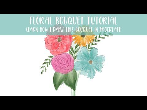 Flower Bouquet Tutorial in Procreate on the iPad Pro