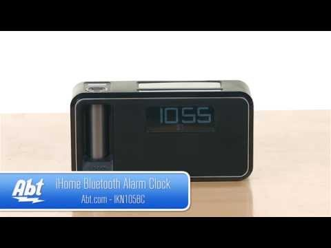 iHome Black Dual Charging Bluetooth Alarm Clock iKN105BC - Overview