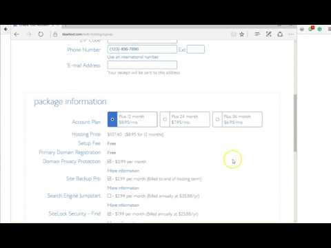 How to Sign Up for BlueHost Hosting for Unlimited Number of Websites, Domain Names, and More....