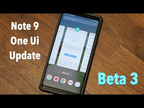 Samsung One Ui on Galaxy Note 9 running Android 9.0 (Beta 3 Update)