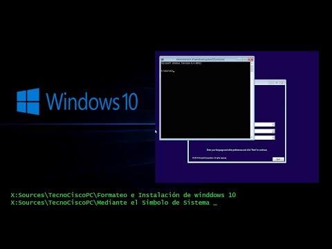 INSTALACIÓN DE WINDOWS 10 MEDIANTE MS-DOS