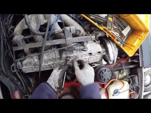 Caught in storm while removing porsche 944 cam tower at the junkyard