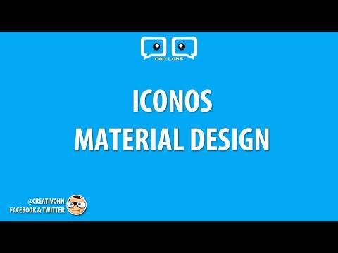 Material Icons: Iconos para tus proyectos web, android, ios
