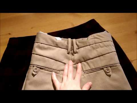 How to make the waistband on a pair of pants smaller (sewing tutorial)
