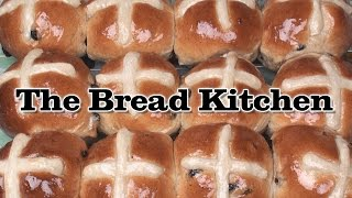 Traditional Hot Cross Buns Recipe in The Bread Kitchen