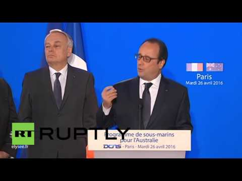 France: Hollande boasts €34 billion submarine contract with Australia
