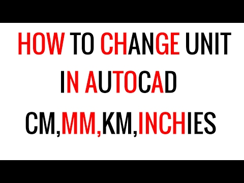 How To Change Unit In AutoCad | Set  Drawing Unit In mm,cm,inches,km etc In Autocad