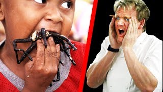 10 Times Gordon Ramsay Ate EXOTIC FOOD!