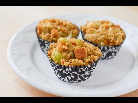 Thanksgiving Stuffing Muffins   Traditional Bread Stuffing Recipe