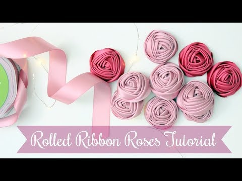 How to make flowers from Satin Ribbon | Rolled Ribbon Rose Tutorial | Easy Beginners Project