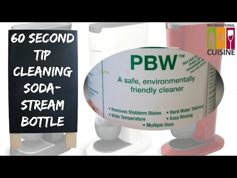 60 Second Tip Cleaning Sodastream Bottle