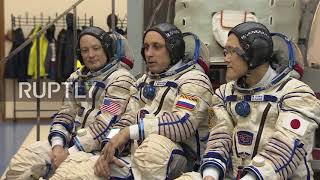 Russia: ISS expedition 54-55 undergoes pre-flight training in Star City