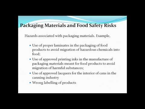 HACCP for the Packaging Material Manufacturers
