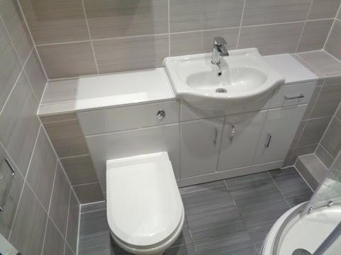 Bathroom converted to a shower room with vanity bathroom storage